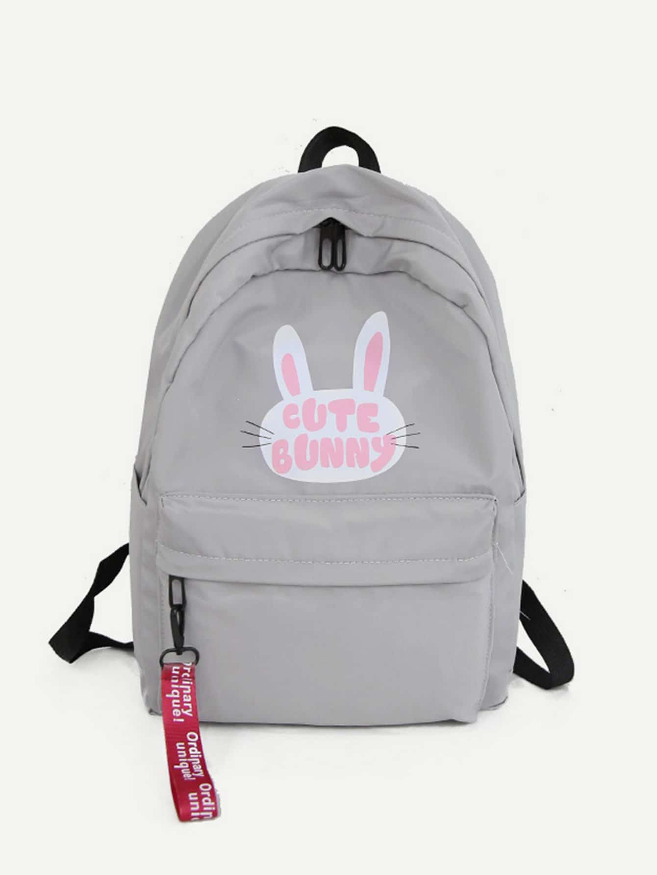 cat 2151 Pocket Backpack 548470 html Rabbit Print Front p N0nZw8OPkX