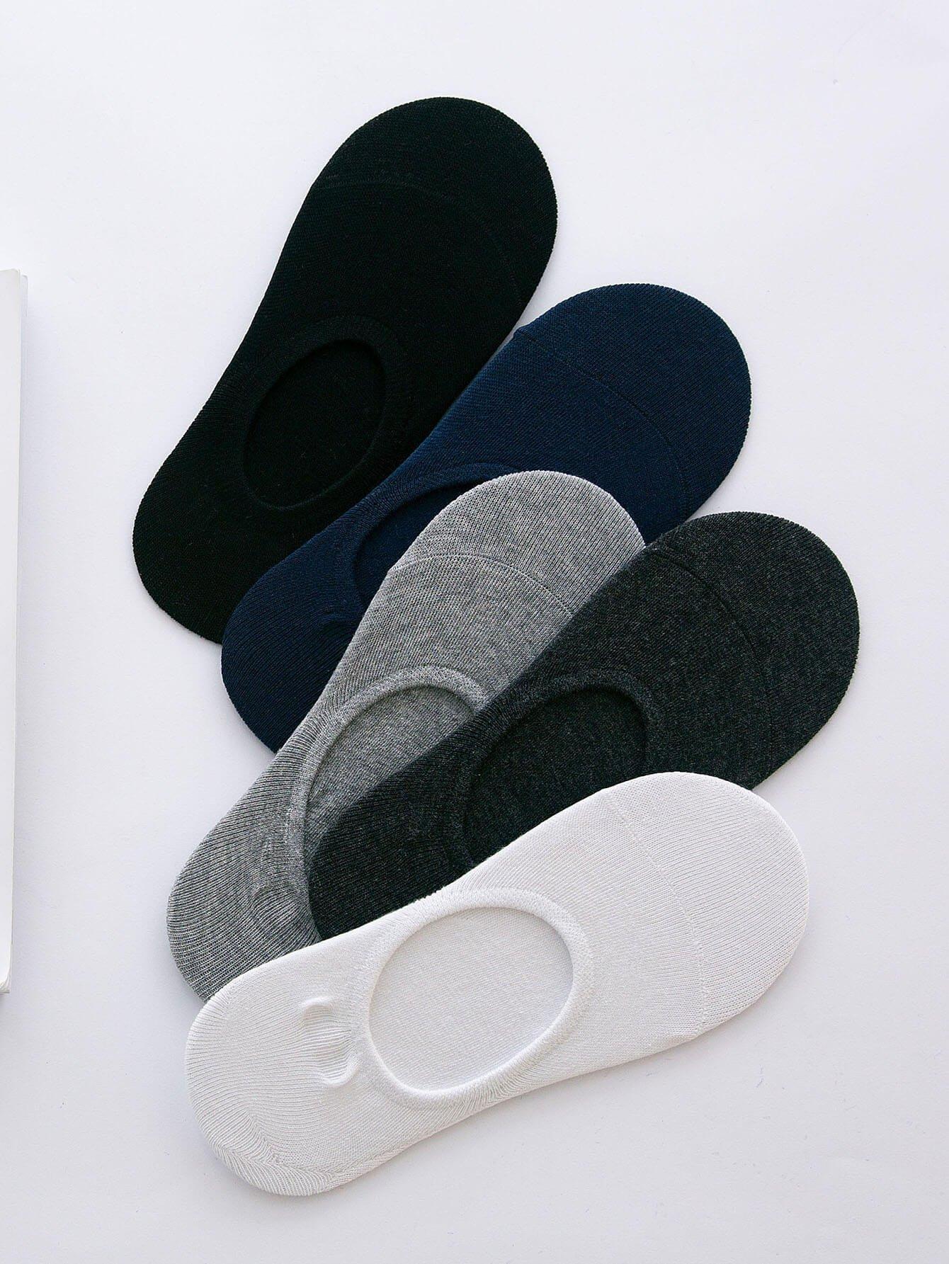 Men Plain Invisible Socks 5pairs