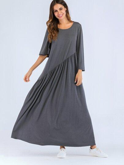 88006354fe770 فستان طويل بأكمام طويلة