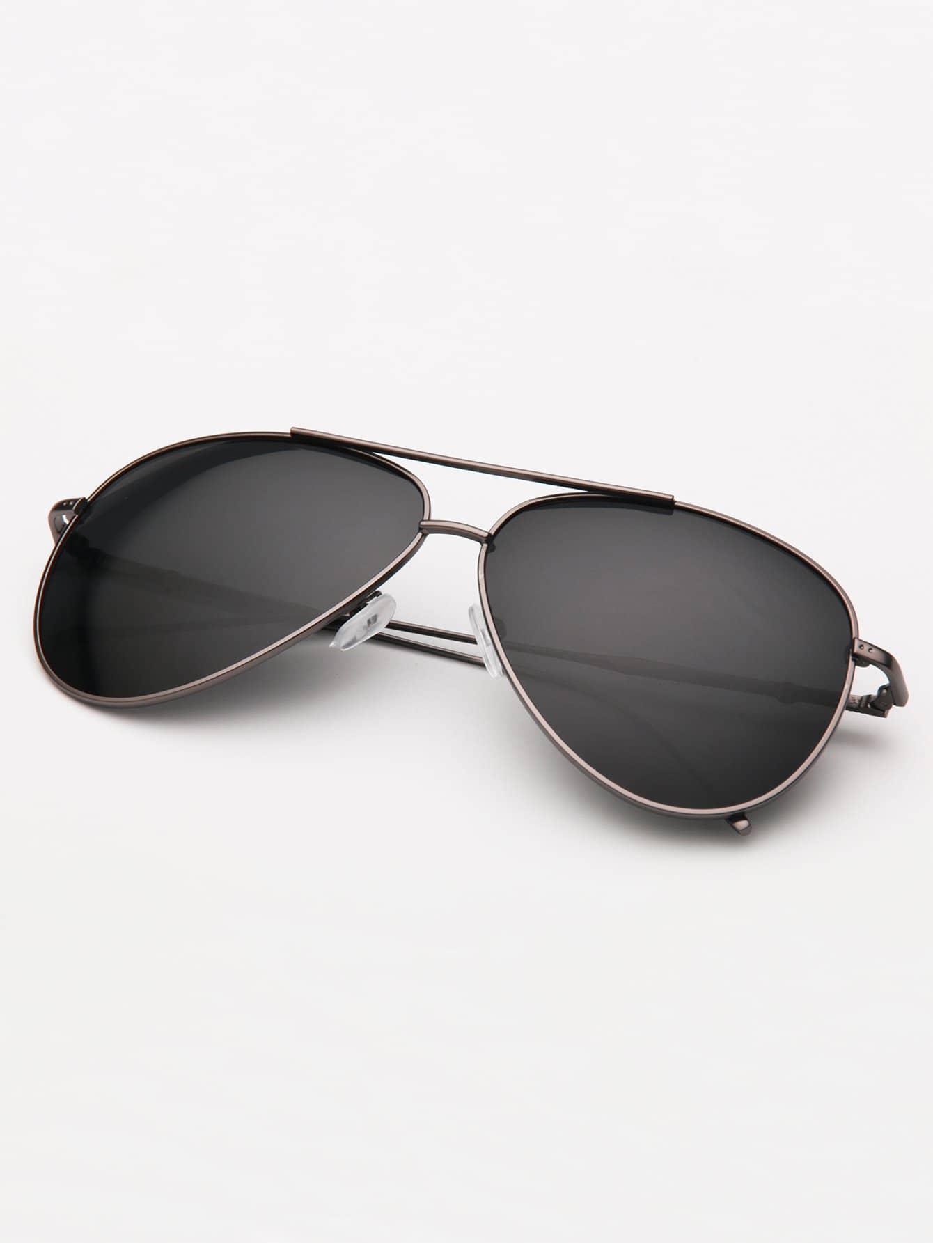 Men Double Bridge Aviator Sunglasses