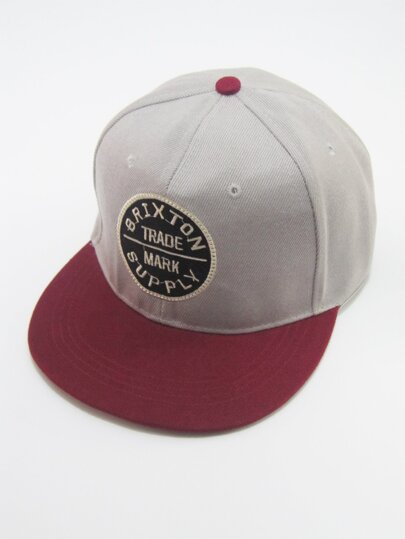 Guys Embroidered Patched Snap Cap
