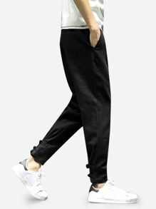Men Close Skinny Foot Pants