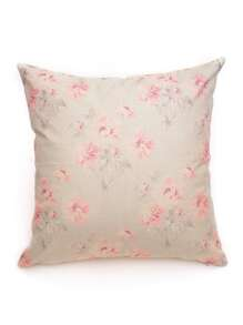 Flower Overlay Print Pillowcase
