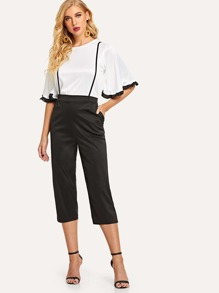 Bell Sleeve Top With Pants