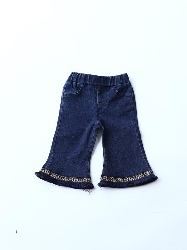 7cb042ece9 Cheap Toddler Girls Fringe Hem Flare Leg Pants for sale Australia | SHEIN