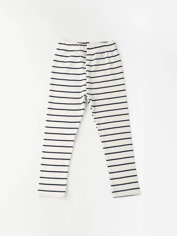 1f78ba9c341b7 Toddler Girls Striped Leggings | SHEIN UK