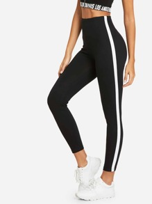 Striped Tape Side Legging