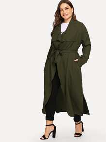 Plus Waterfall Collar Solid Coat