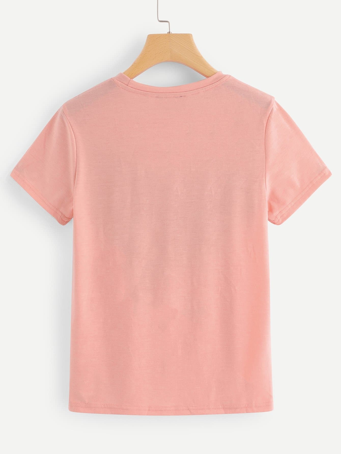 tee shirt avec franges french shein sheinside. Black Bedroom Furniture Sets. Home Design Ideas