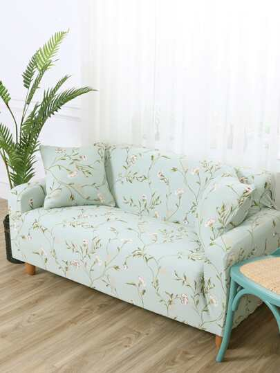 Flower Print Sofa Cover 1pc