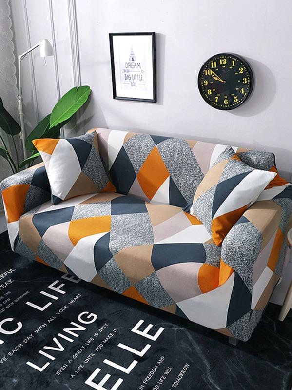 62c43972e0 Funda de sofá elástica con estampado geométrico 1 pieza