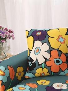 de sofá pieza de Funda de flores elásticas 1 N8mvn0wO