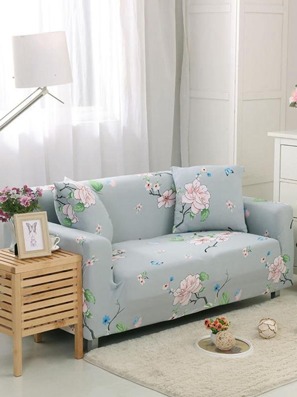 Flower Print Sofa Cover 1pc