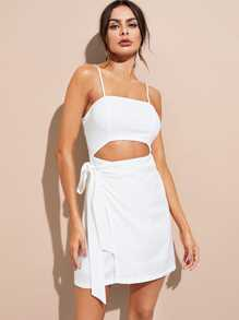 Open Waist Tie Side Cami Dress
