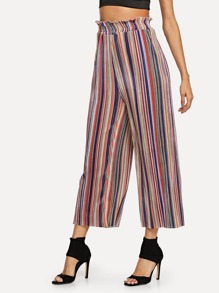 Waist Elastic Striped Pants