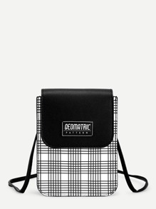 Plaid Flap PU Crossbody Bag