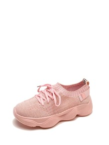 Lace Up Rubber Sole Sneakers