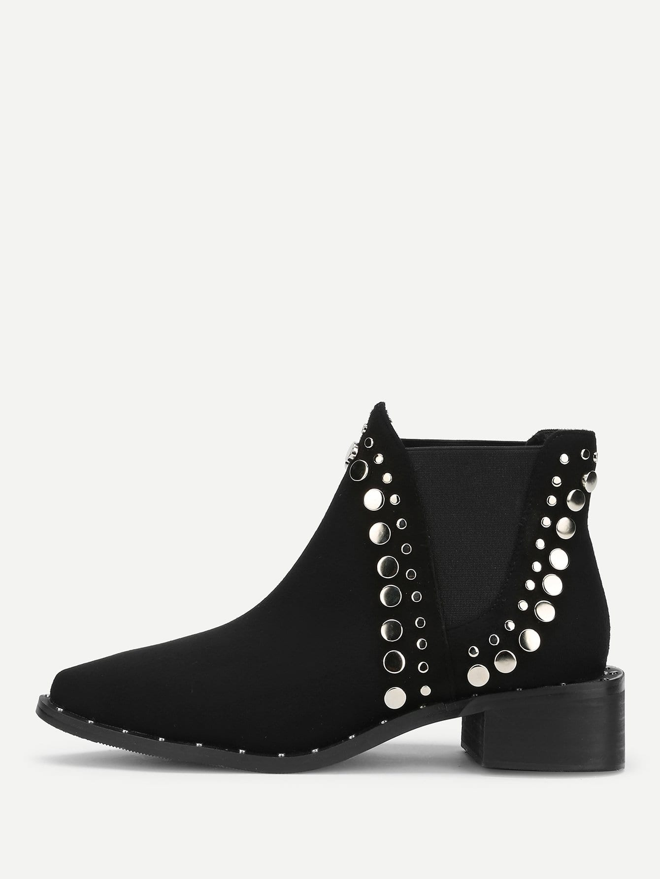 Studded Trim Chelsea Boots