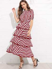 Striped Tiered Dress