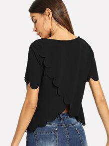 Scallop Tulip Back Top