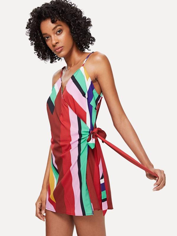 e53b8c848857 Cheap Open Back Tie Side Overlap Cami Romper for sale Australia