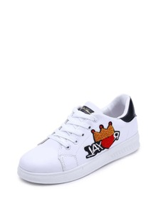Crown Embroidered Detail Sneakers