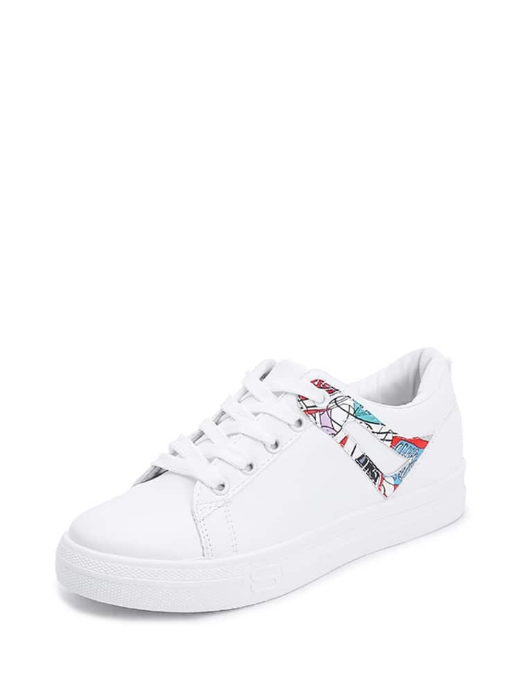 a53809521c Lace Up PU Sneakers EmmaCloth-Women Fast Fashion Online
