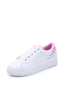 Scoop Cut Perforated Sneakers