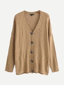 Solid Drop Shoulder Cardigan