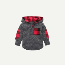 Toddler Boys Pocket Detail Hooded Sweatshirt