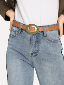 Scalloped Trim Buckle Belt