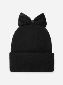 Bow Decorated Beanie