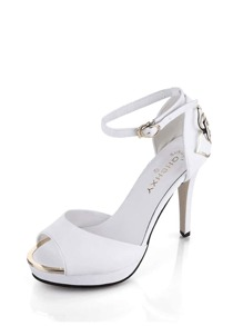 Peep Toe Ankle Strap Sandals