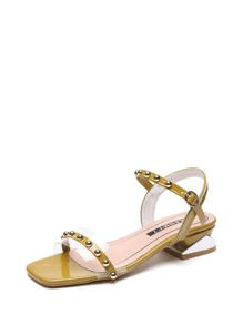 Studded Detail Open Toe Sandals