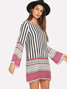 Striped Round Neck Dress