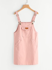 Patch Detail Pinafore Dress