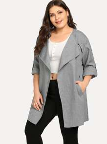 Plus Self Tie Solid Coat