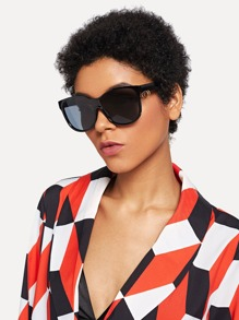 Ring Detail Oversized Sunglasses