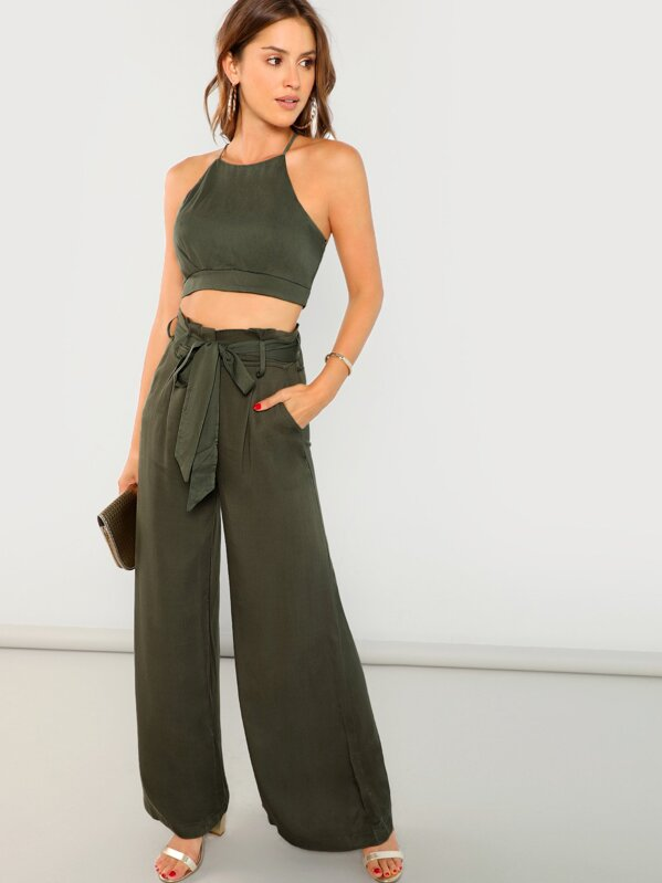 b19d784af72811 Cheap Crop Top And Palazzo Pant Set for sale Australia