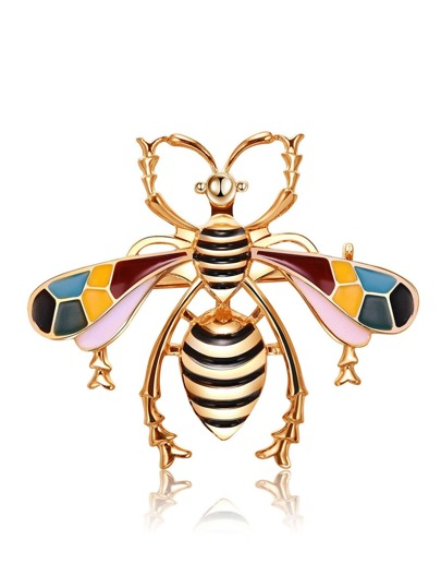 Metal Bee Design Brooch