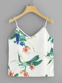Plus Floral Print Cami Top