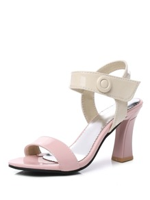 Open Toe Chunky Heeled Sandals