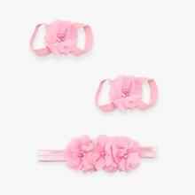Girls Flower Design Hair Accessories Set