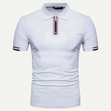 Men Varsity Striped Polo Shirt
