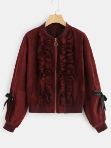 Ruffle Solid Jacket