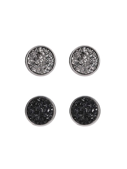 Glitter Stud Earrings 2pairs