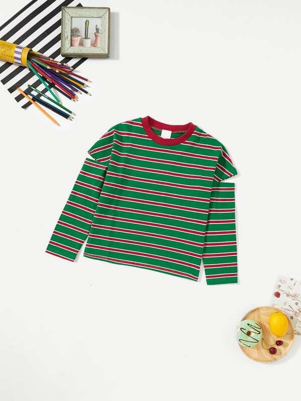 301e3c24b4 Cheap Toddler Girls Cut Out Sleeve Striped Tee for sale Australia ...