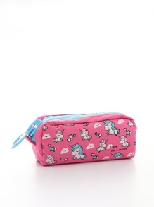 Unicorn Printed Pencil Case