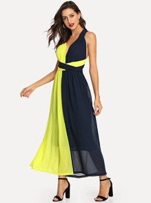 Criss Cross Color Block Shell Dress