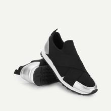 - Low Top Slip On Velcro Sneakers